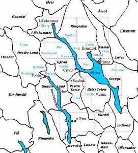 Mjosa area map from slektshistorielaget website