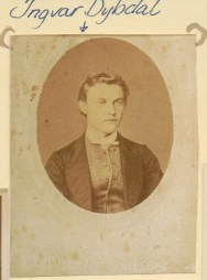 Ingvar Dybdal as young man photo from Edel G